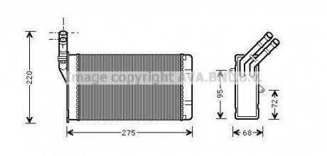 CN6055 AVA COOLING Радиатор отопителя CITR ZX/XANTIA / PEUG 306 (Ava)