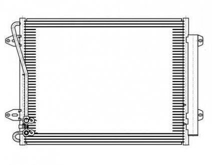 LRAC 181D LUZAR Радиатор кондиционера PASSAT B6 1.6i / 2.0FSi / 1.4TSi / 2.0TDi / 1.9D (05-) С РЕСИВЕРОМ (595*460*16)) () Luzar