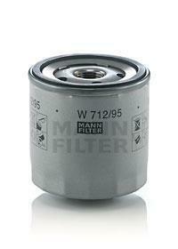 W712/95 MANN Фильтр масляный двигателя VW GOLF VI, VII, SKODA FABIA III 1.0-1.5 TSI 12- (пр-во )