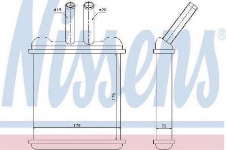 76502 NISSENS Радиатор печки LANOS/NUBIRA ALL 97- 1.3-1.6 (пр-во Nissens)