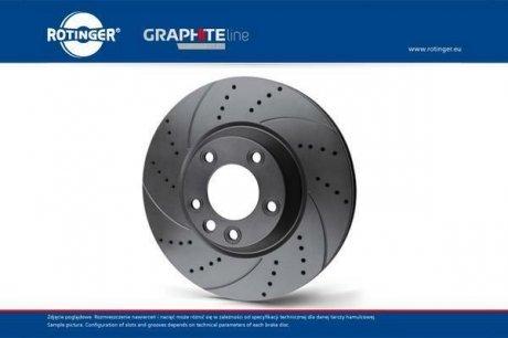 RT 20344-GL/T5 ROTINGER Диск тормозной вентилируемый графитовый (кратно 2) BMW 5 (E60), 6 (E63) [324X77] ()
